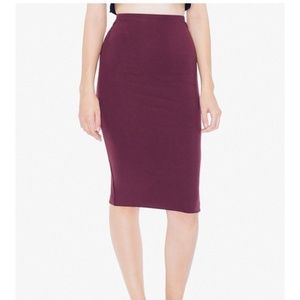 American Apparel Ponte Mid-Length Pencil Skirt